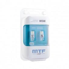 Светодиодная автолампа MTF Light VEGA, W5W/T10, 12В, 1Вт, 5000К