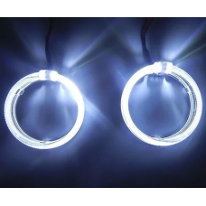 LED Ангельские глазки с рассеивателями 95мм Белые (2шт)