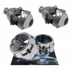 """Комплект бигалогеновых линз с масками MORIMOTO MINI H1 2.5"""" G6 PRO HALOGEN 55"""