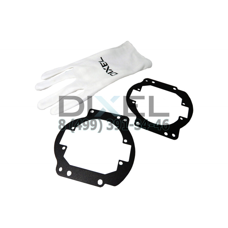 """Переходная рамка Nissan Patrol VI Y62 2010 - по н. в. Модуль DIXEL MINI BI-LED 3.0"""" (К-T, 2 шт)"""