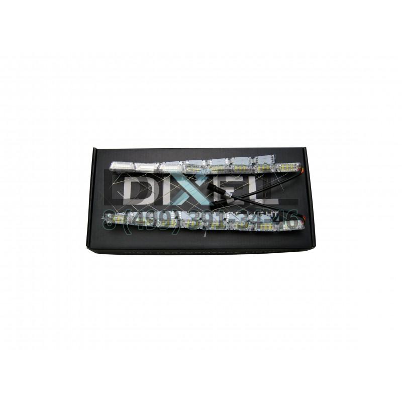 ДХО DIXEL Внутренний S12 Dynamic Кристал 2 режима ДХО+поворотник (Белый/Желтый) 12V