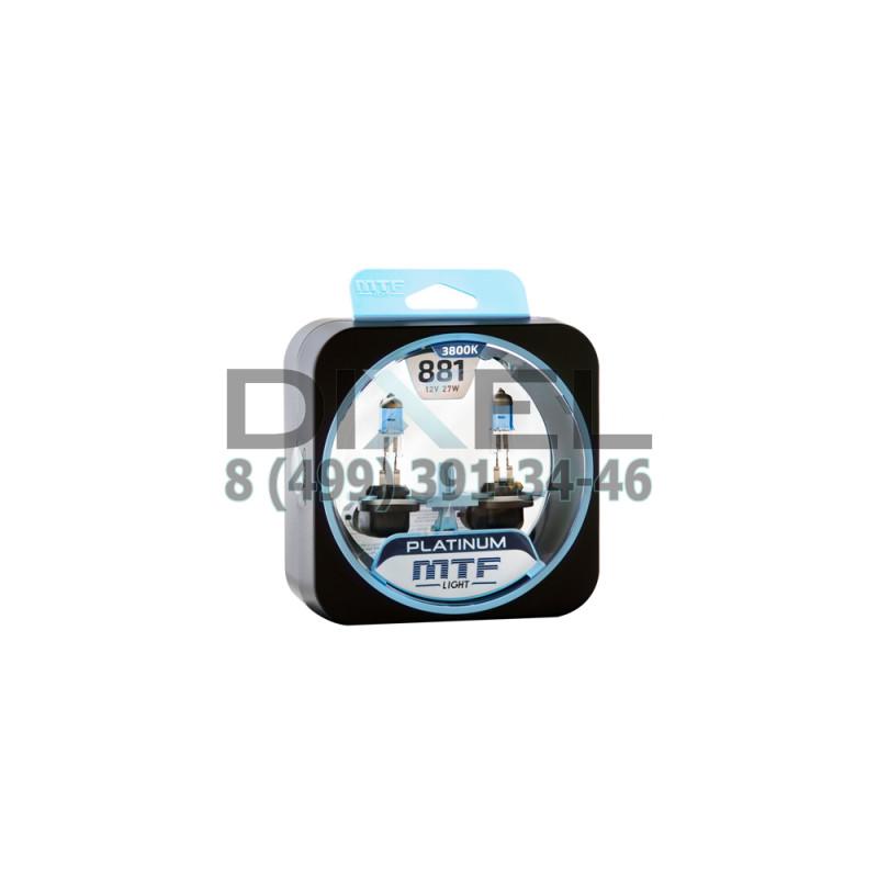 Галогенные автолампы серия PLATINUM Н27 (881), 12V, 27W, комплект 2 шт