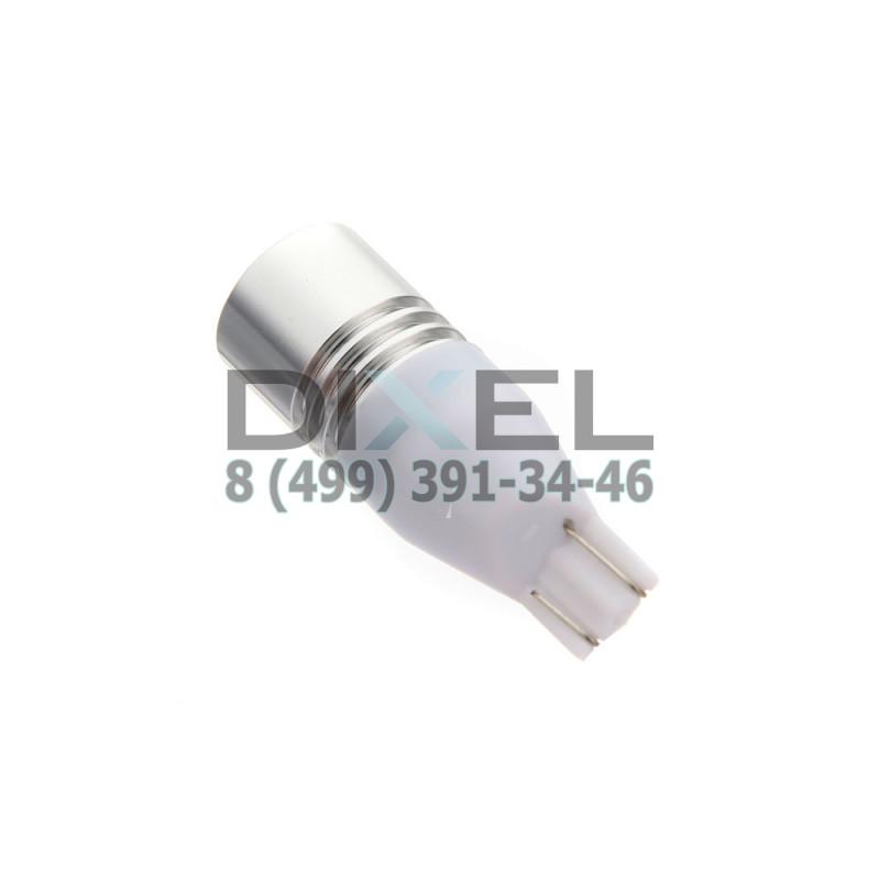 Лампа светодиодная LED T10-1-CREE-7W Желтый 12V