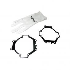 Переходные рамки Mitsubishi Pajero 4 2006 - 2014 Г.В Модуль DIXEL MINI BI-LED 3.0* (Компл, 2 шт)