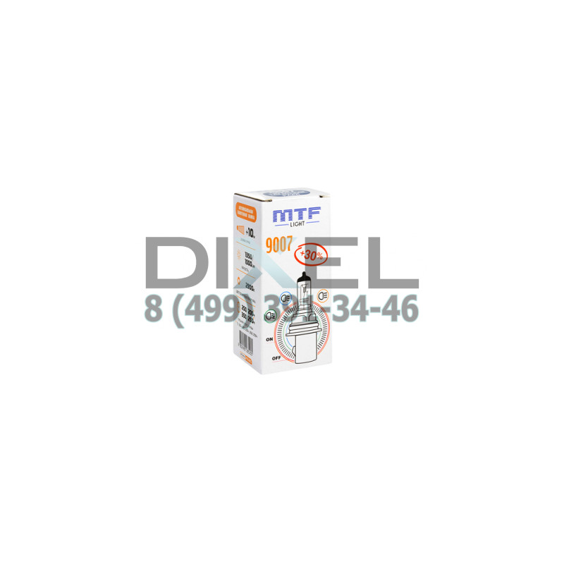 Галогенная лампа MTF HB5 9007 12v 65/55w - Standard +30%