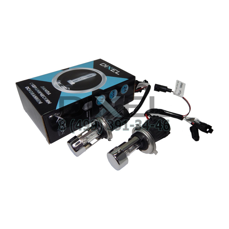 Лампа ксенон DIXEL UXV CERAMICK +30%; H4 HI/LO 5000K AC
