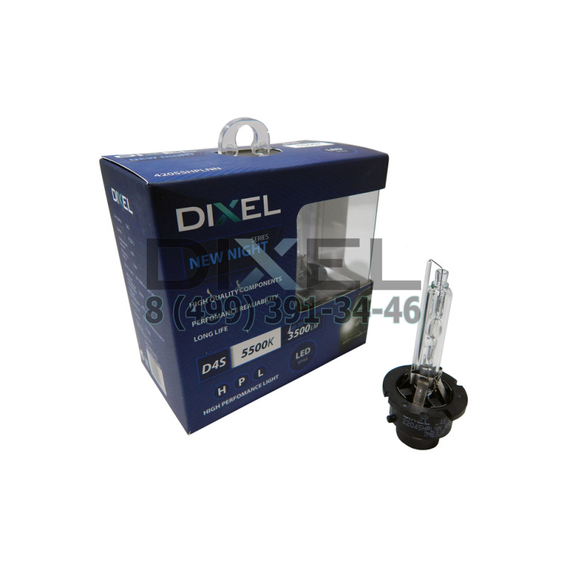 Ксеноновые лампы DIXEL HPL NEW NIGHT D4S 5500K 3300Lm КТ-2 шт.
