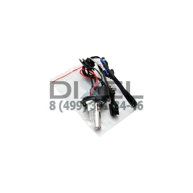 Лампа ксенон PH Н4 5000К+галоген с проводом питания AC
