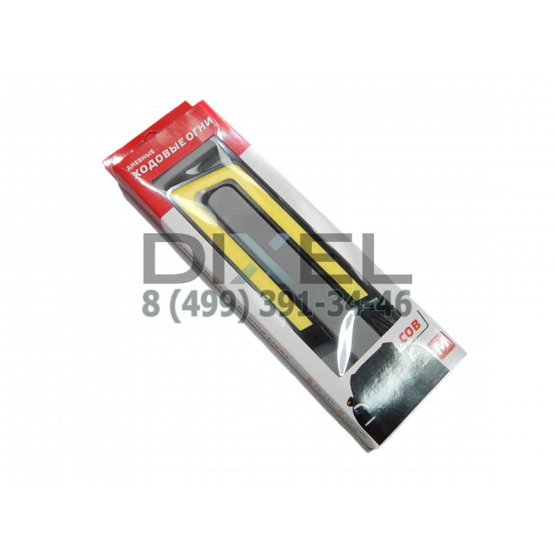 Дневные Ходовые Огни COB М U-SHAPE Черный корпус, Белый свет 12V