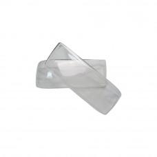 Гладкие стекла фар Audi 90 (пара из листа толщиной 4мм)