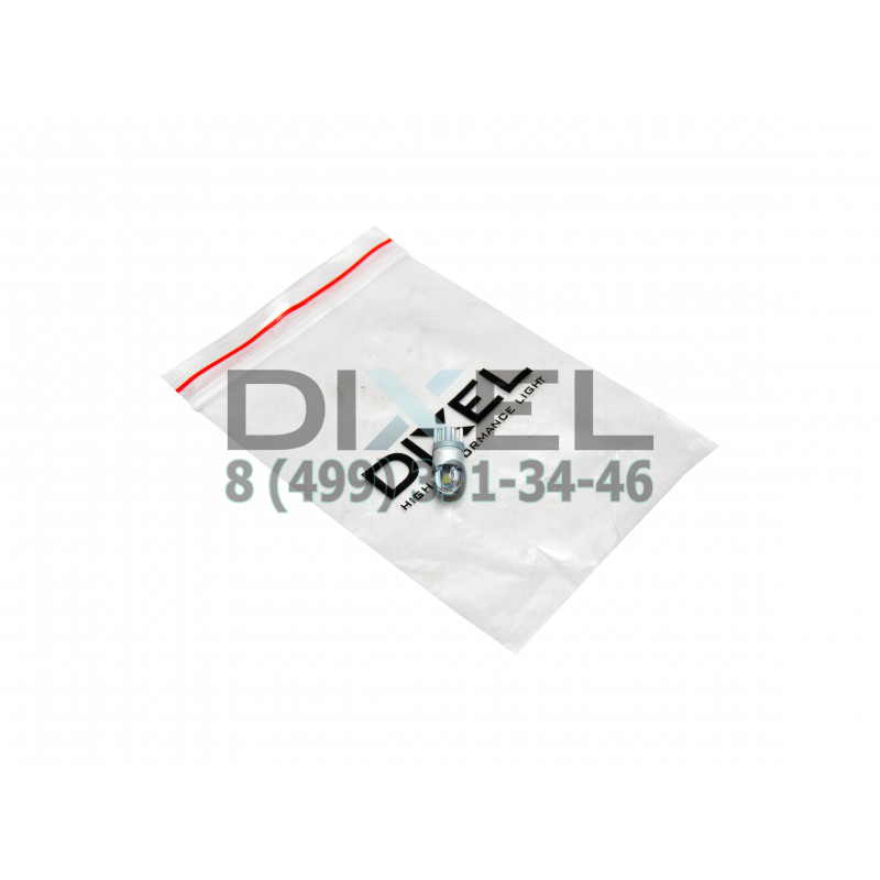 Cветодиодная лампа DIXEL (W5W) T10 2 JP FLAT (3030) 5000K 12 V
