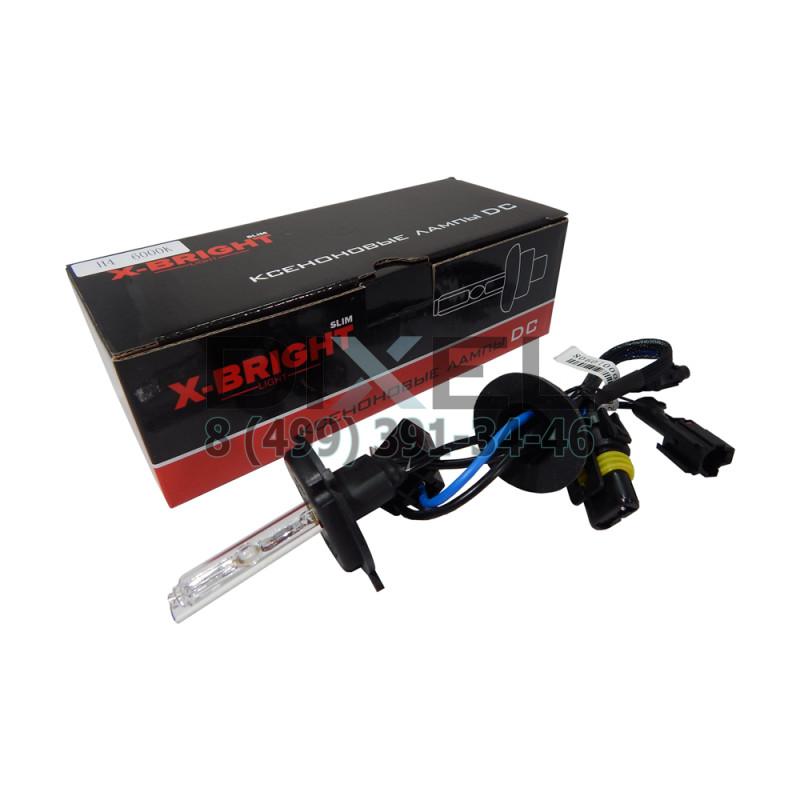 Лампа ксенон X-BRIGHT Н4 4300К с проводом питания DC
