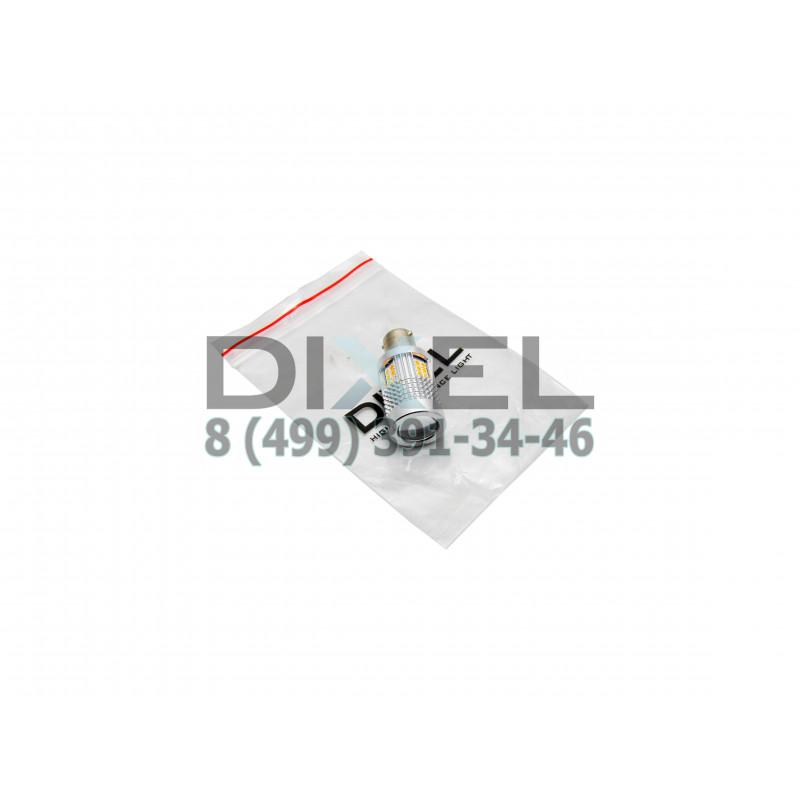 """Лампа светодиодная для поворотника встроенная нагрузка S25 (1156 150"""") 30 SMD(3030)(Линза)Желтый12V"""