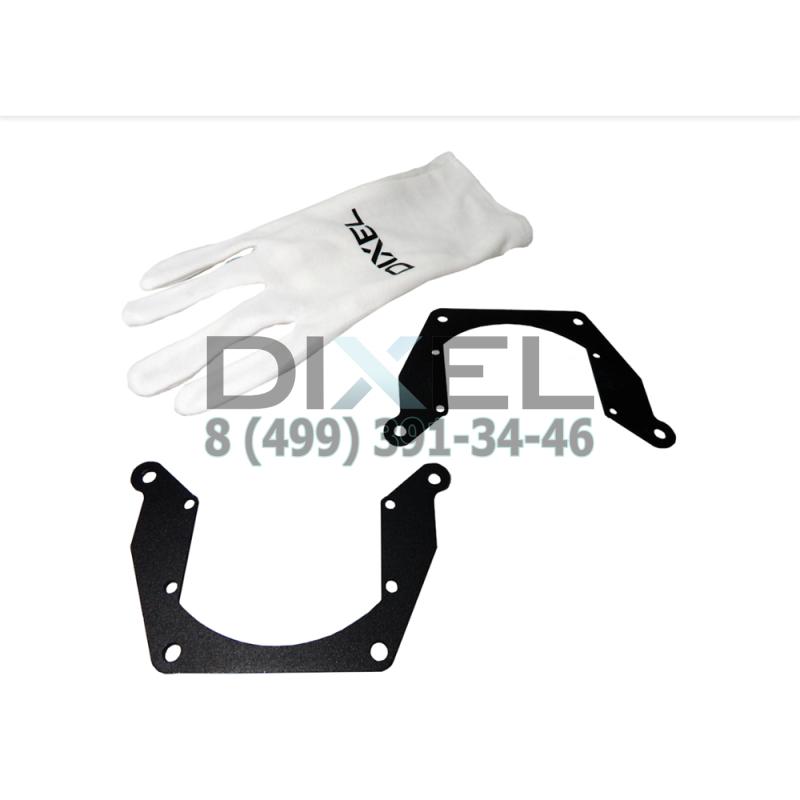 "Переходная рамка Hyundai Solaris 2014 - н.в. Модуль DIXEL MINI BI-LED 3.0 "" (Комплект, 2 шт.)"