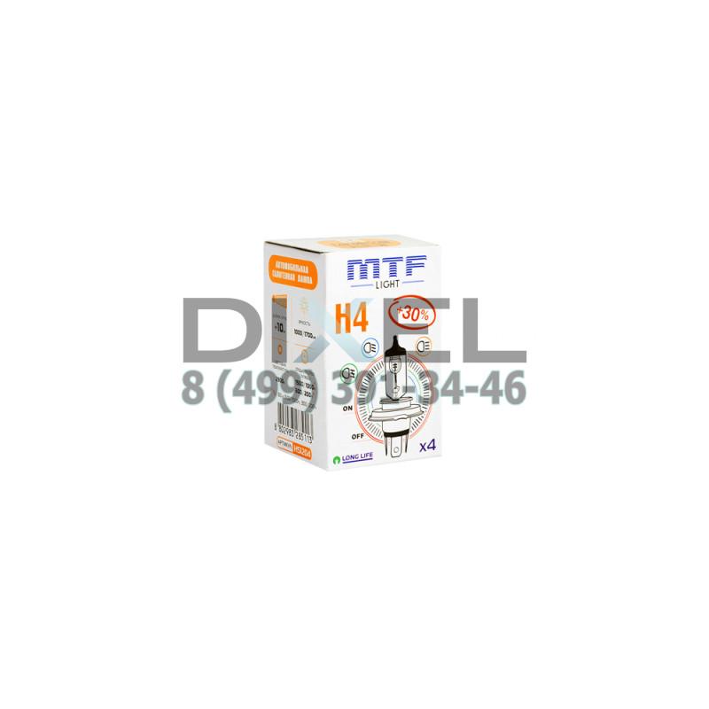 Галогенная лампа MTF H4 12v 60/55w - Standard +30%
