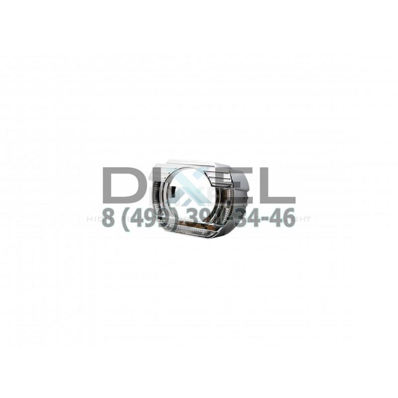 Маска Квадратная с А.Г. LED для Би-линзы DIXEL G5 MINI H1 2.0 дюйма (50MM)