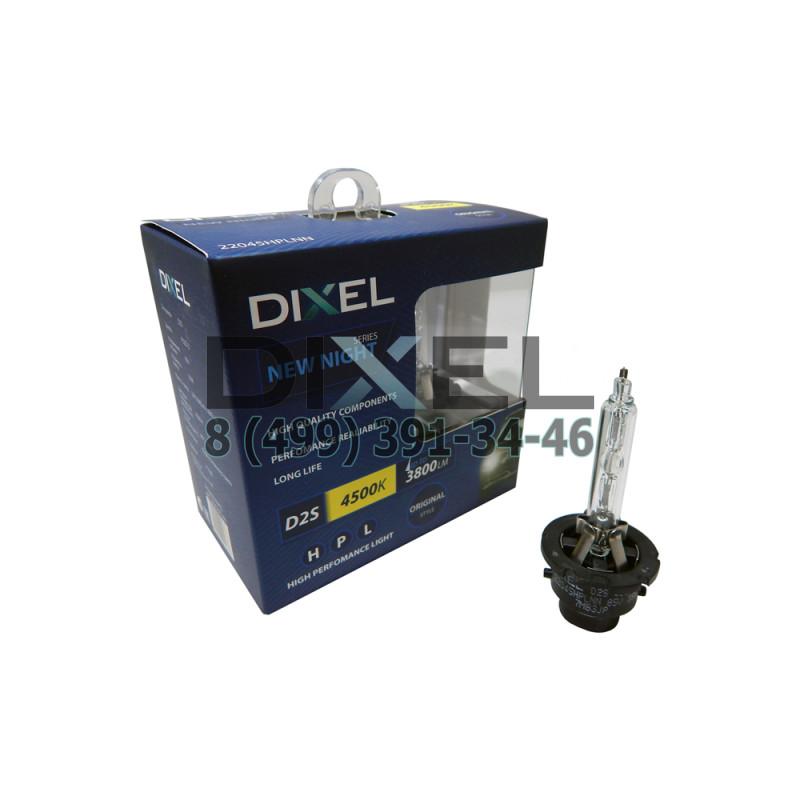 Ксеноновые лампы DIXEL HPL NEW NIGHT D2S 4500K 3500Lm КТ-2 шт.