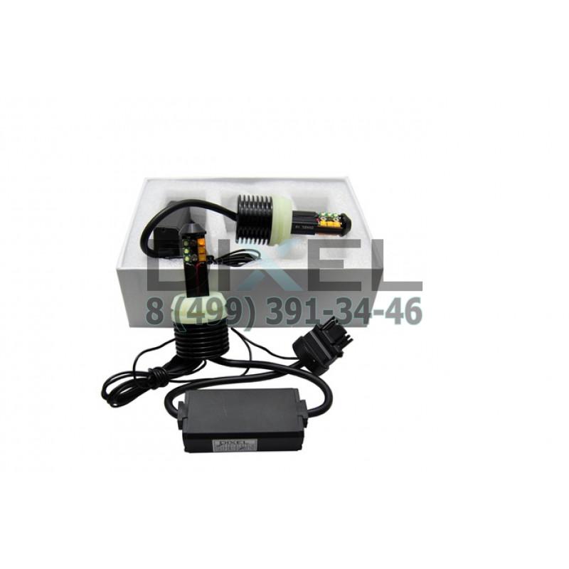 Лампа светодиодная LED T25 (1156-180) 40W (CREE)Функция ДХО+Поворот (Белый+Желтый) 12V (КT- 2 шт.)