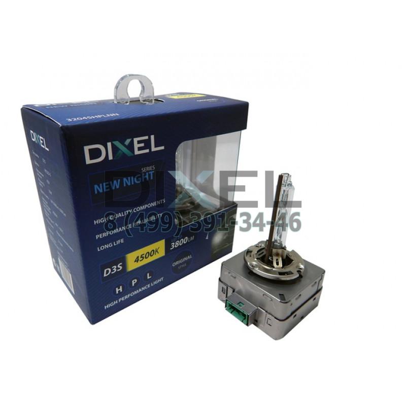 Ксеноновые лампы DIXEL HPL NEW NIGHT D3S 4500K 3000Lm КТ-2 шт.